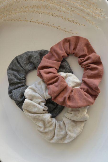 Gumka do włosów zero waste len jedwab bawełna organiczna