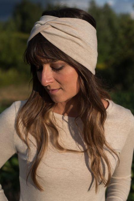 Opaska turban z bawełny organicznej