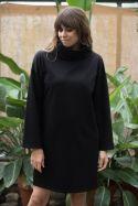 Sukienka oversize z golfem z bawełny organicznej GOTS