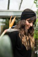 Opaska turban z bawełny organicznej czarna