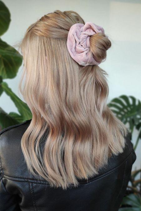 SISTU x OLEKSY Gumka do włosów pudrowy welur