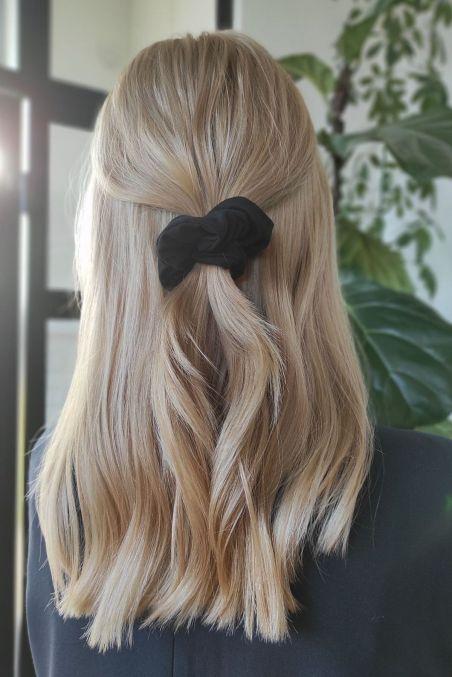 SISTU x OLEKSY Gumka do włosów czarny tencel