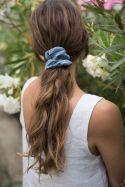 SISTU x OLEKSY Gumka do włosów lniana niebieska